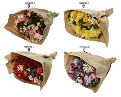 Kytice sušených květin, 25x10x50cm, 4 druhy, Kaemingk - 2