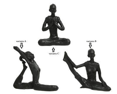 Dekorace YOGA, 4,5x12x10cm, černá, 3 druhy, Kaemingk - 2