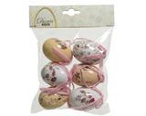 SET 6ks -velikonoční vajíčko KVĚTINA, 6cm, 6 druhů, Kaemingk - 2/2