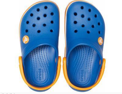Boty CROCBAND WAVY BAND CLOG KIDS J2 blue jean, Crocs - 2