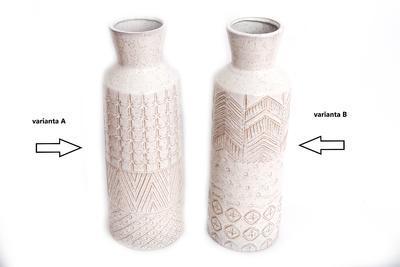 Váza s reliéfem, 44cm, 2 druhy, Sifcon - 2