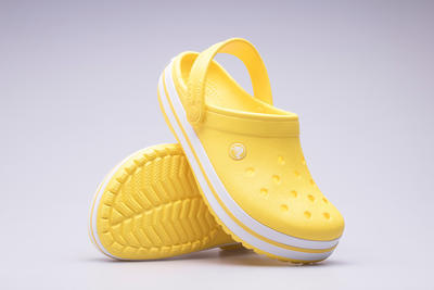 Boty CROCBAND Lemon/White, UNISEX  vel. 44.5,  Crocs - 2