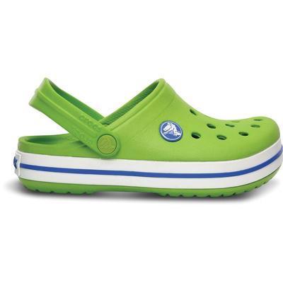 Boty CROCBAND KIDS C6/7 Zář. Zelená/Modrá, Crocs - 2