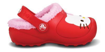 Boty HELLO KITY LINED COSTUM GLOG C8/9 red/bubblegum, Crocs - 2