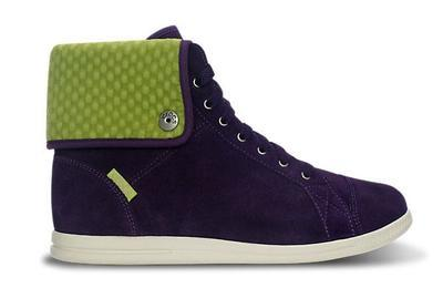 Tenisky LOPRO SUEDE HI-TOP SNEAKER W10 mulberry/green apple, Crocs - 2