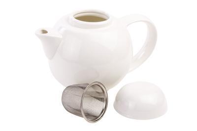 Konvice na čaj se sítkem WHITE BASICS - 6 šálků, Maxwell & Williams - 2