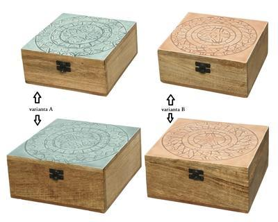 SET 2ks krabiček, mangové dřevo, 2 druhy, Kaemingk - 2