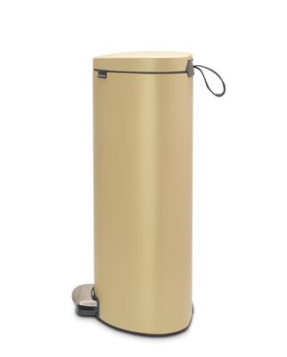 Pedálový koš FlatBack + Silent 30l, minerální zlatá , Brabantia   - 2