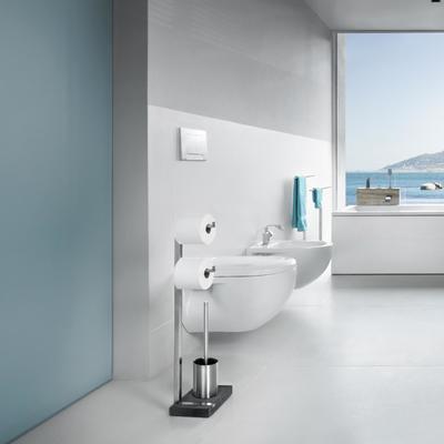 WC stojan na 2 role a štětku MENOTO - mat, Blomus - 2