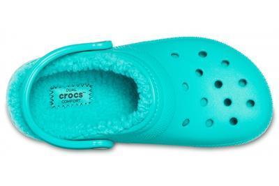 Boty CLASSIC Lined Clog Tropical Teal s kožíškem, UNISEX  vel. 37.5, Crocs - 2