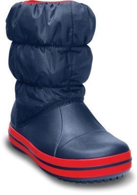 Dětské zimní boty WINTER PUFF Boot Kids-Navy/Red, vel. 30-31, Crocs - 2