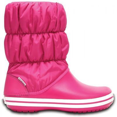 Dámské nepromokavé zimní boty PUFF BOTS, růžové, vel. 36-37, Crocs - 2
