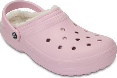 Boty CLASSIC Lined Clog Ballerina Pink/Oatmeal s kožíškem, UNISEX  vel. 37.5, Crocs - 2
