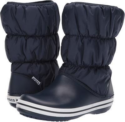 Dámské nepromokavé zimní boty PUFF BOTS, modré, vel. 41, Crocs  - 2