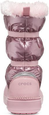 Dětské zimní boty LODGEPOINT Metalic s kožíškem, růžové, vel. 33-34, Crocs - 2