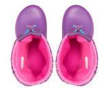 Dětské zimní boty CROCBAND LodgePoint Graphic K - Neon Magenta/Ametyst, vel. 33-34, Crocs - 2/3