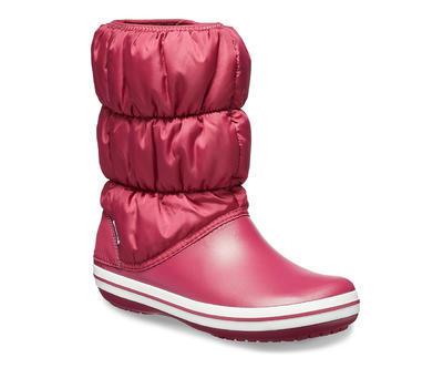 Dámské nepromokavé zimní boty PUFF BOTS, červené, vel. 37-38, Crocs    - 2