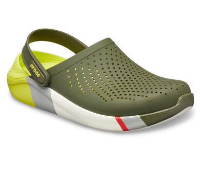 Boty LITERIDE COLORBLOCK CLOG M12 army green/white, Crocs - 2
