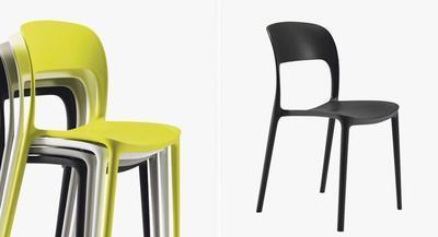 Židle bez područek GIPSY - anthracite, Bontempi - 2