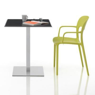 Židle s područkami GIPSY - lime yellow, Bontempi - 2