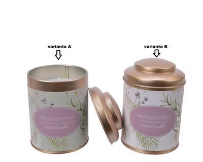 Vonná svíčka v dóze, lila/ zelená, 8x11cm, Kaemingk - 2