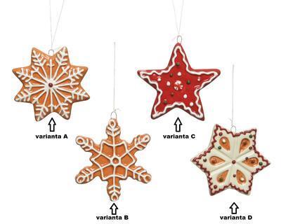 Vánoční ozdoba PERNÍČEK, 8 - 9cm, 4 druhy, Kaemingk - 2