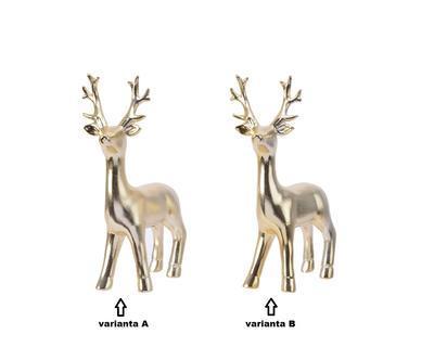 Dekorace  JELEN, zlatý, 11x6x19cm, 2 druhy, Kaemingk - 2