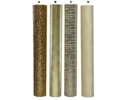 Dekorační látka, 35x200cm, 4 druhy, zlatá, Kaemingk - 2