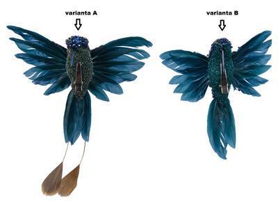 Kolibřík na klipu, 2 druhy, modrý, Kaemingk - 2