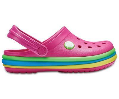 Boty CB RAINBOW BAND CLOG KIDS J2 paradise pink, Crocs - 2