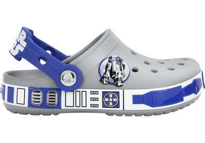 Boty STAR WARS R2D2 CLOG C6/7 light grey/cerulean blue, Crocs - 2