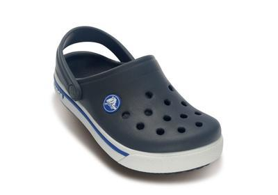Boty CROCBAND II.5 CLOG KIDS C8/9 charcoal/sea blue, Crocs - 2