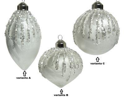 Vánoční ozdoba, 8cm, oliva/ cibule/ baňka, Kaemingk - 2