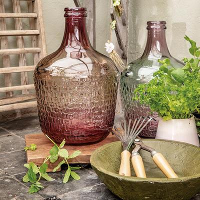 Váza z recyklovaného skla, 2 assort, růžová, Kaemingk   - 2