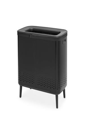 Koš na prádlo BO 2x45l, matná černá, Brabantia    - 2