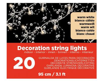 Vánoční LED dekorace - Světelná girlanda 95cm/20L, Kaemingk - 2