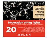 Vánoční LED dekorace - Světelná girlanda 95cm/20L, Kaemingk - 2/2