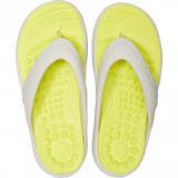 Žabky REVIVA FLIP M6/W8 pearl white/citrus, Crocs - 2/5