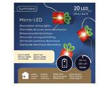 Vánoční světelný řetěz - microLED XMAS 190cm/20L, Kaemingk - 2/2