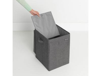 Stohovatelný koš na prádlo 35l, tmavě šedý melír, Brabantia        - 2