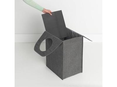 Taška na prádlo 55l, tm. šedý melír, Brabantia     - 2