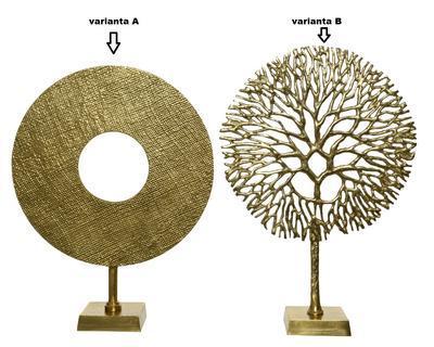 Dekorace, kruh/ strom, zlatá, Kaemingk - 2