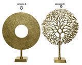 Dekorace, kruh/ strom, zlatá, Kaemingk - 2/2