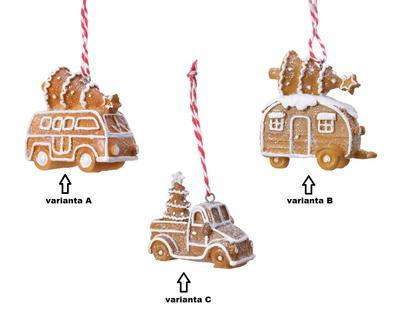 Vánoční ozdoba PERNÍKOVÉ AUTÍČKO, Van auto/obytný přívěs/ pick-up, Kaemingk - 2