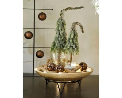Mini stromeček - zasněžený, 13x13x50cm, zeleno/bílý - 2