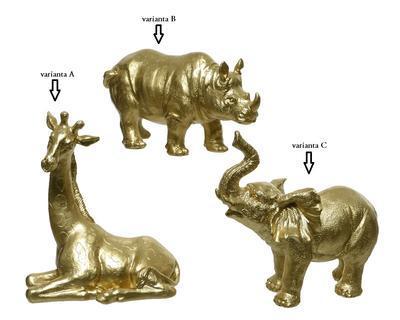 Dekorace, 6x15,5x8,5cm, zlatá, 3 druhy, Kaemingk - 2