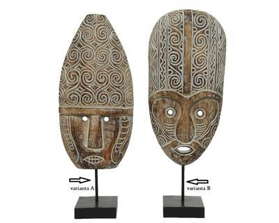 Dekorace MASKA, 21x56cm, antik, 2 druhy, Kaemingk - 2