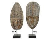 Dekorace MASKA, 21x56cm, antik, 2 druhy, Kaemingk - 2/4