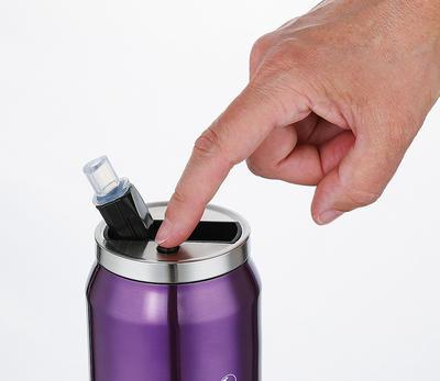 Termoláhev s brčkem LATTINA 500 ml - fialová, Cilio - 2