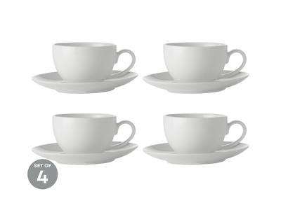 Espresso šálek s podšálkem, 100 ml, WHITE BASIC, Maxwell and Williams - 2